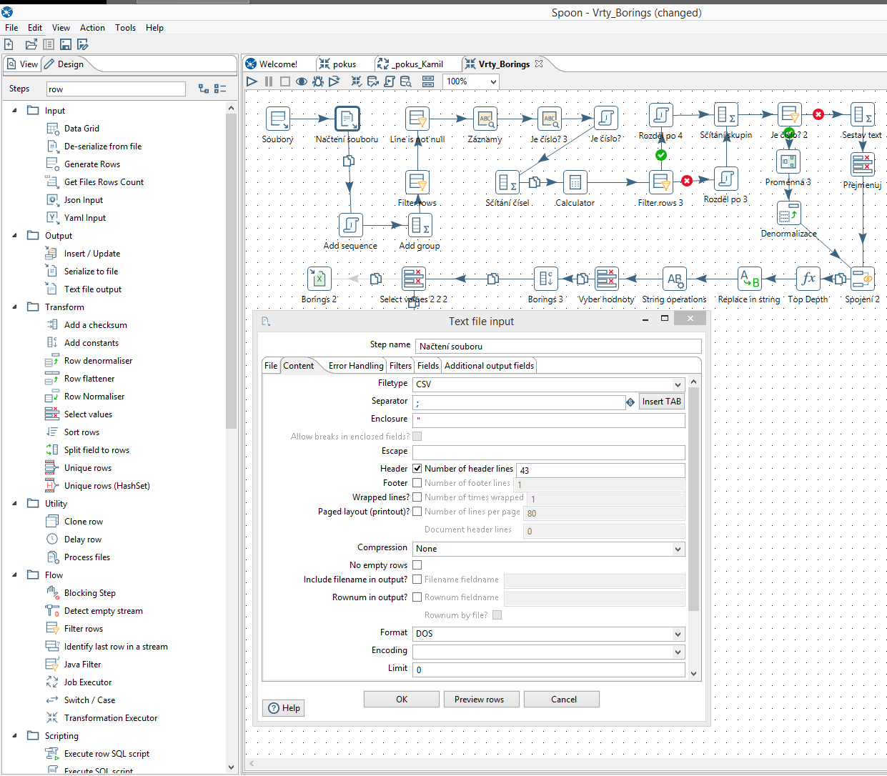 Pentaho Data Integration (Kettle) contains a visual developement environmnet for data transformation (Spoon)